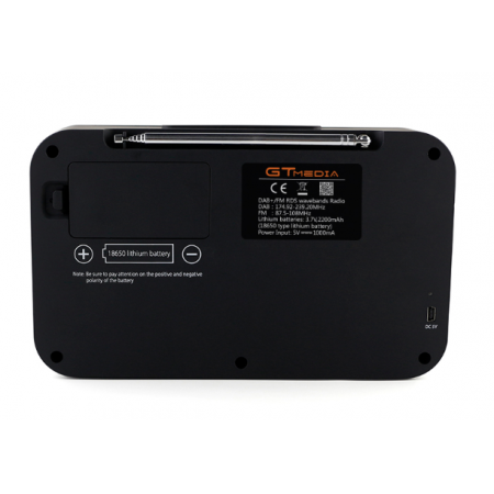Récépteur DAB DAB+ RNT écran couleur Bluetooth 4.0 GTMedia DR-103B rf-market