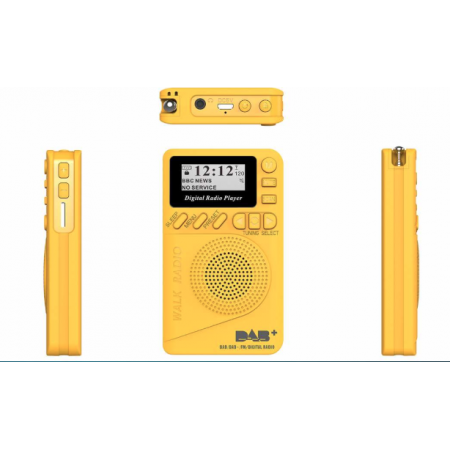 Radio de voyage DAB+ RNT FM affichage LCD Jaune rf-market