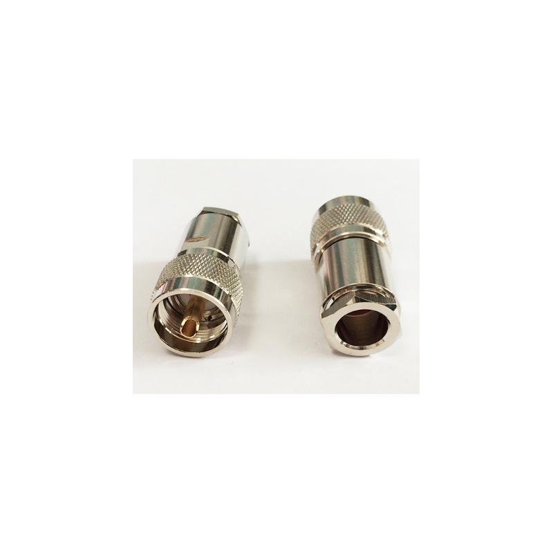 Connecteur UHF PL259 Mâle pour câble coaxial LMR400 RG213