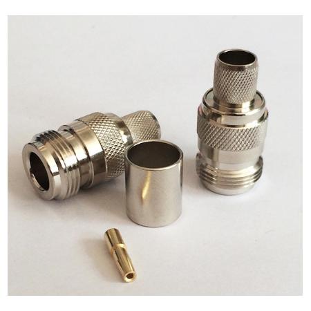 Connecteur N Femelle à sertir pour câble coaxial LMR400 RG213