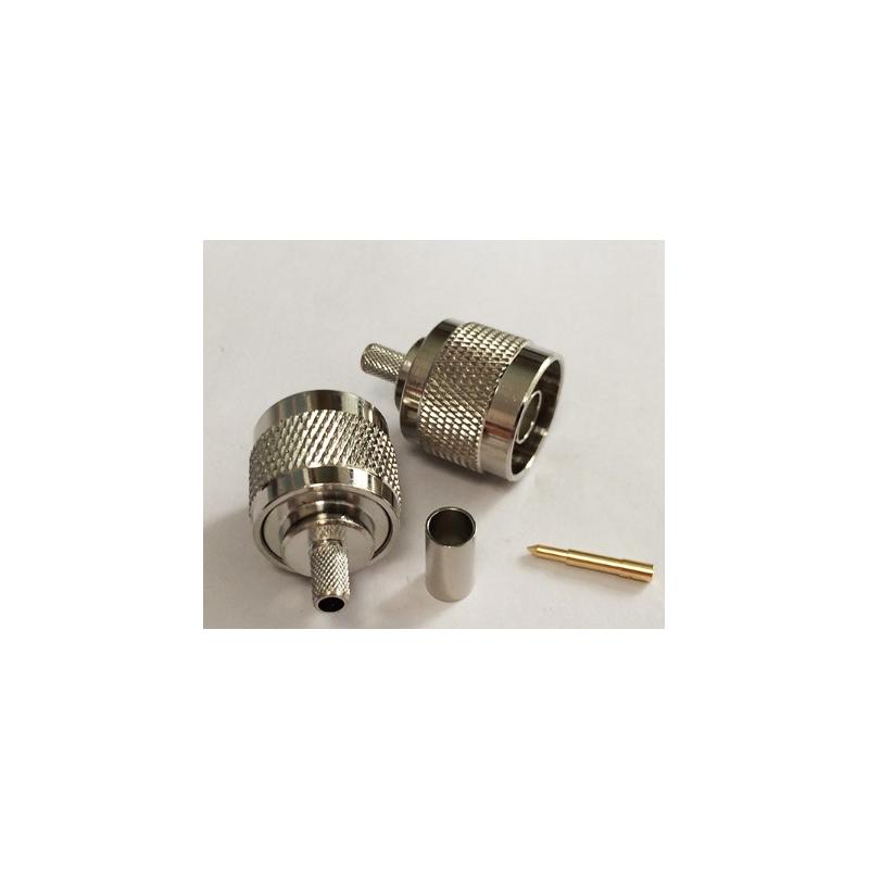 Connecteur N Mâle à sertir pour câble coaxial LMR200 RG58
