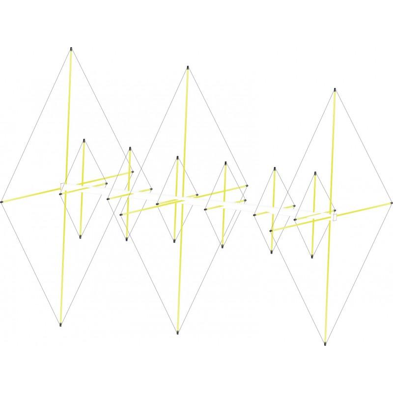 Antenne cubical quad 3 éléments 6m / 6 élements 2m