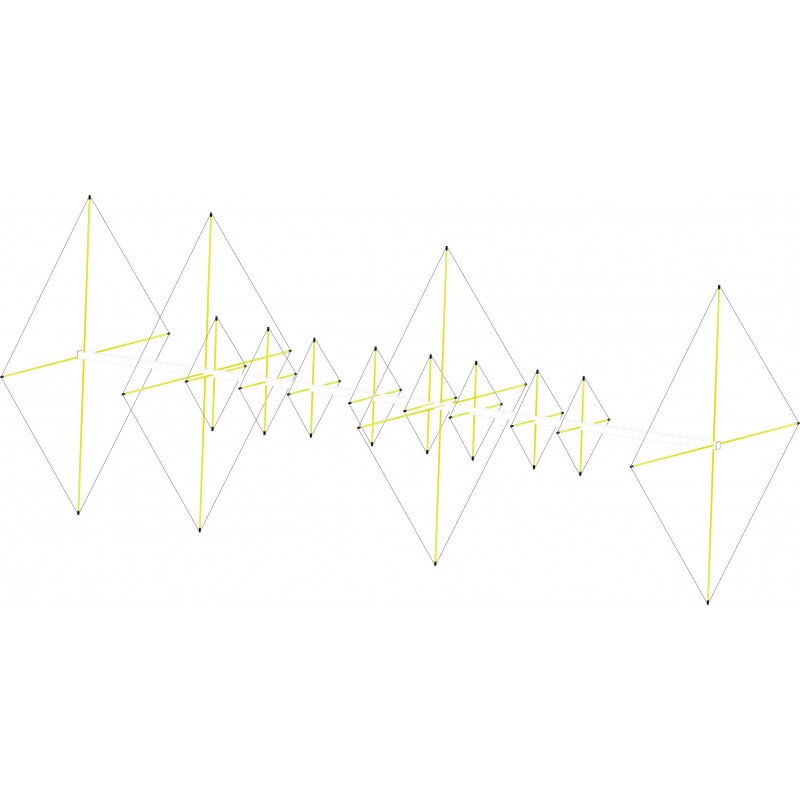 Antenne cubical quad 4 éléments 6m / 8 élements 2m