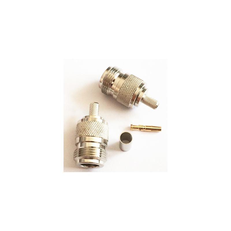 Connecteur N Femelle à sertir pour câble coaxial LMR200 RG58