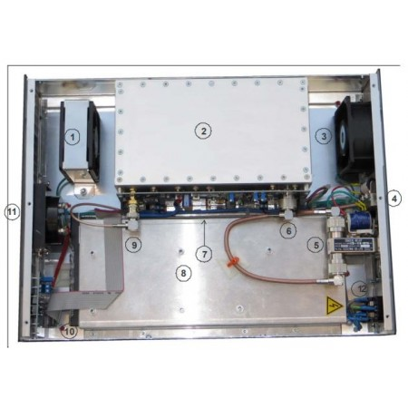 vue interieur Amplificateur ATLAS 500 - 432 , 500W 432 MHz