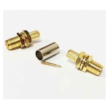 Connecteur RP-SMA à sertir pour câble coaxial RG58 LMR175