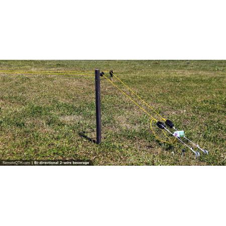 installation antenne beverage bidirectionnelle