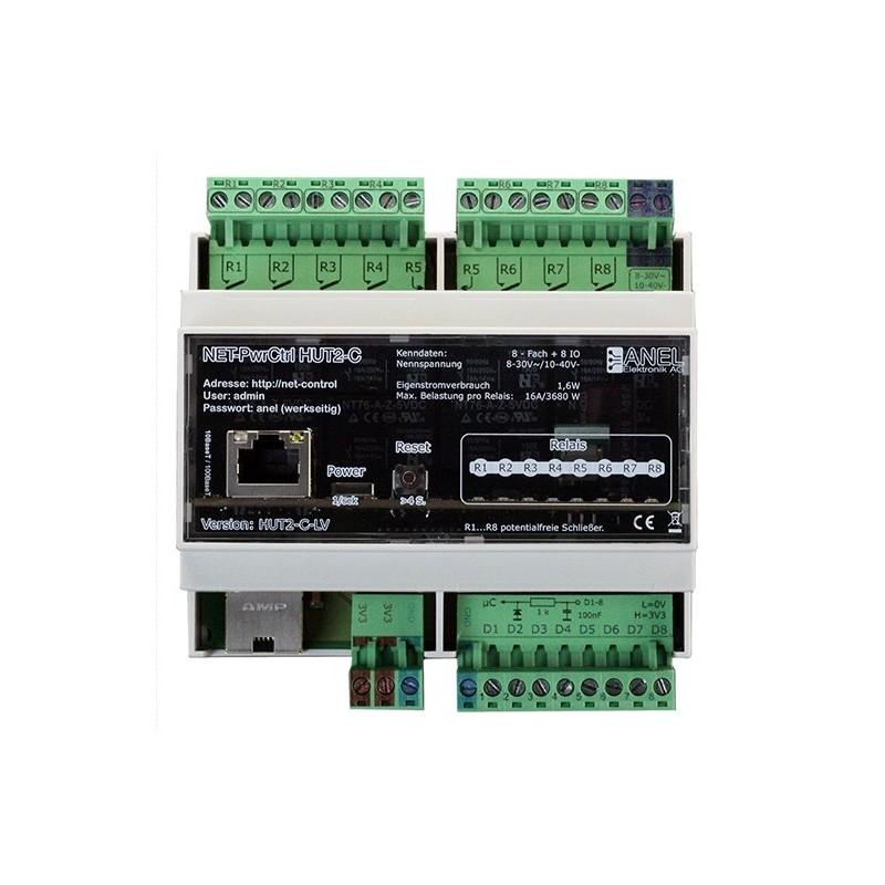 Controleur domotique 8 entrées/sorties et 8 relais NET-PwrCtrl HUT 2C LV