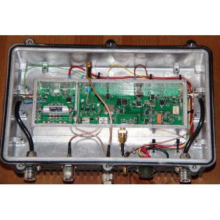 Version finale QO-100 émetteur récepteur complet 20w 2.4 ghz et LNB modifié inclus