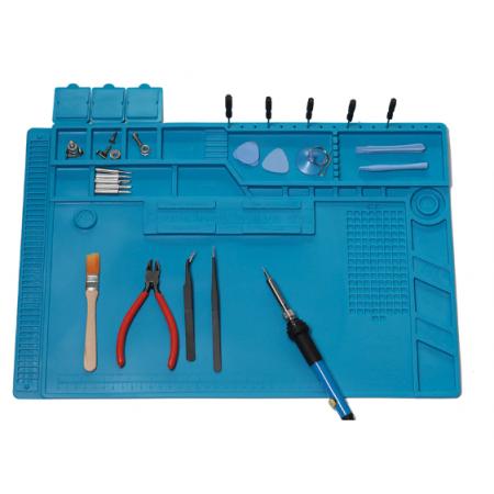 Tapis de travail pour réparation soudage protection thermique et statique