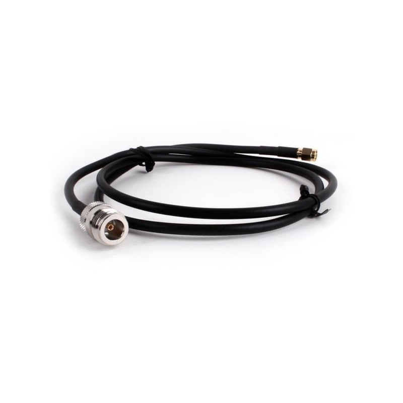 Câble coaxial HDF200 100 cm  prise N femelle vers prise SMA