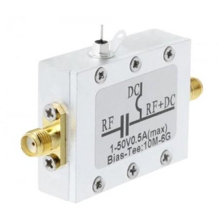 Bias Tee SMA 80mhz-6 Ghz boitier aluminium