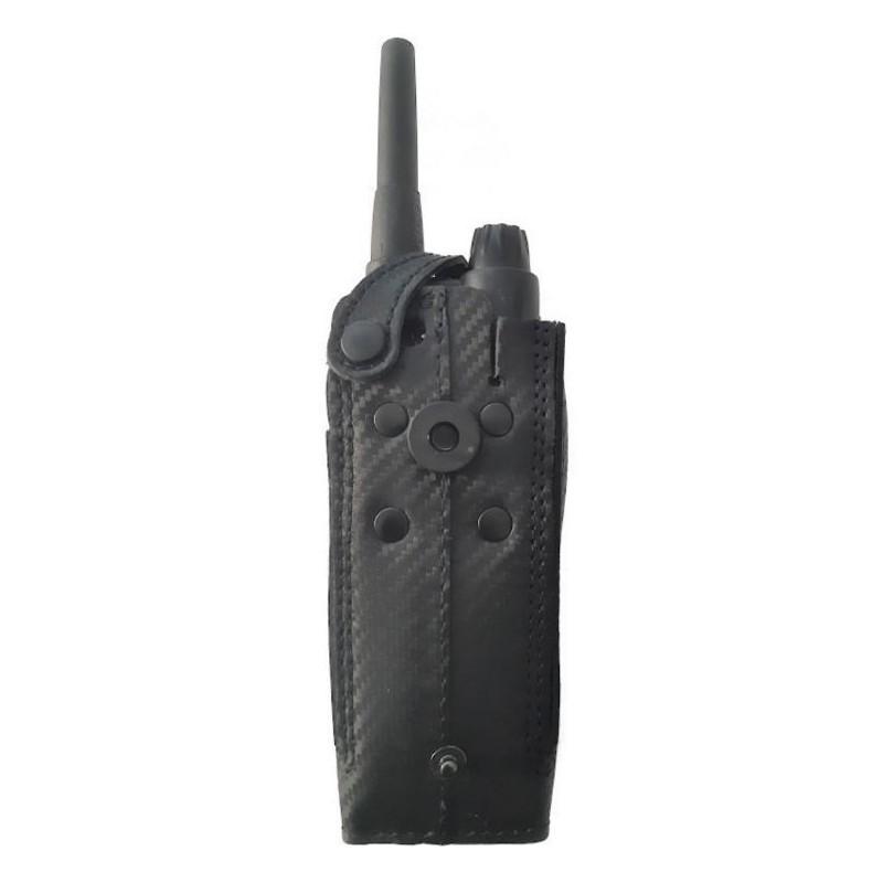 Housse cuir et  carbone avec clip rotatif et bouton de verrouillage  EADS AIRBUS TPH700