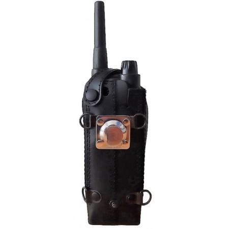 Housse cuir avec clip demi-lune en métal et bouton de verrouillage  EADS AIRBUS TPH700