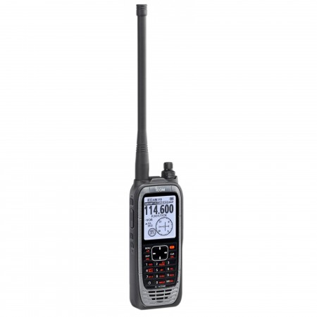 Icom IC-A25NE portatif aviation espacement 8.33 kHz GPS VOR Bluetooth