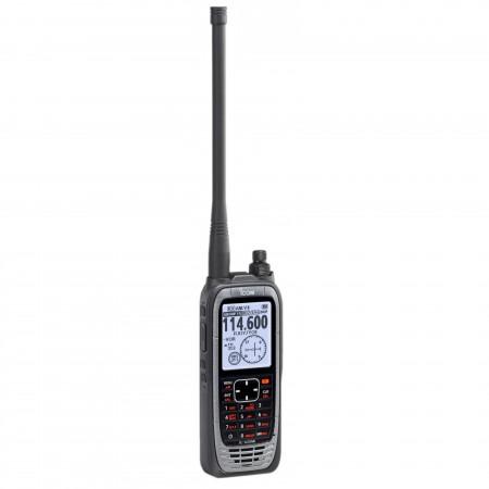 Icom IC-A25NE portatif aviation espacement 8.33 kHz GPS VOR Bluetooth