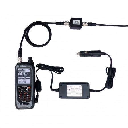 Icom IC-A25NEFR portatif aviation espacement 8.33 kHz LSA compatible Bluetooth VOR GPS