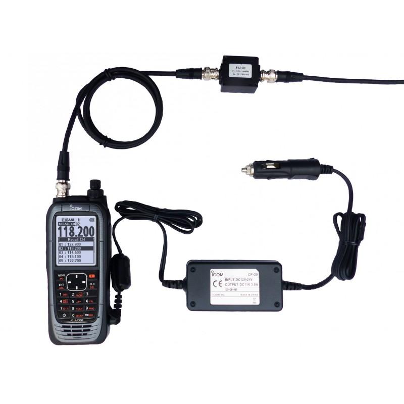 Icom IC-A25NEFR portatif aviation espacement 8.33 kHz LSA compatible Bluetooth VOR GPS