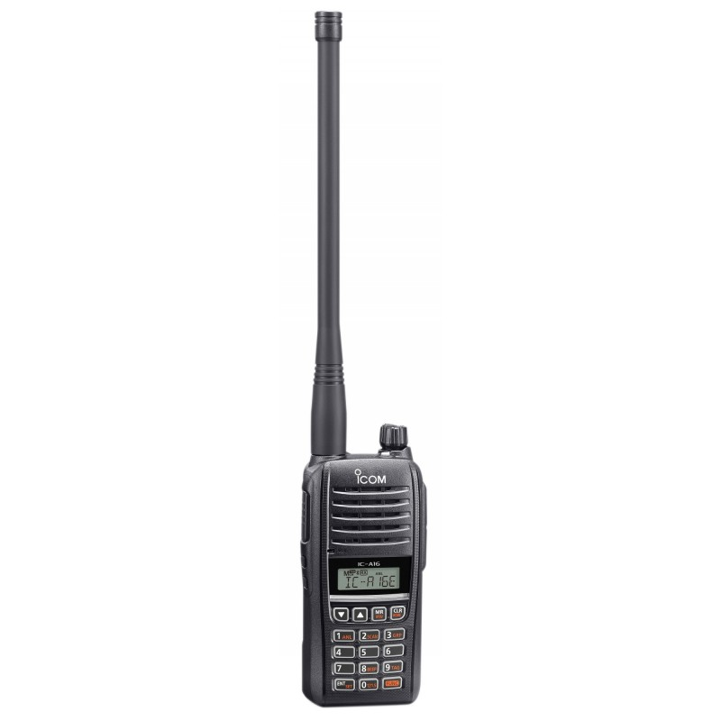 Icom IC-A16E portatif aviation VHF 118-136MHZ espacement 8.33 kHz