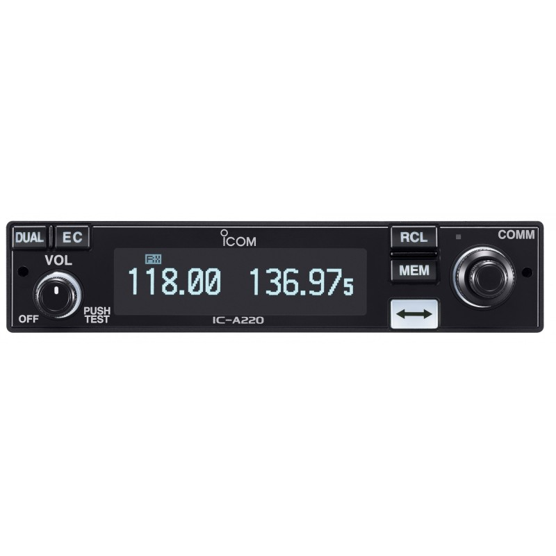 Icom IC-A220T mobile VHF 118-136MHZ espacement 8.33 kHz