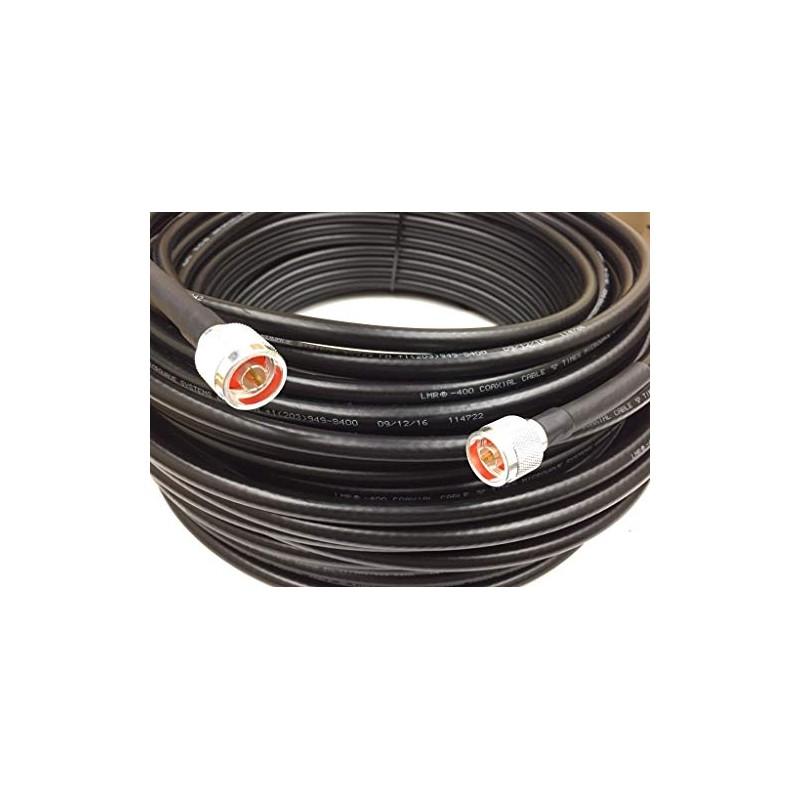Rallonge câble coaxial LMR400 Très faible perte N/N Mâle 12m rf-market