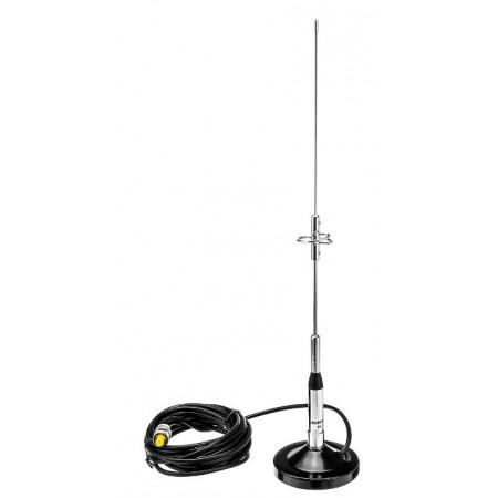 Antenne mobile vhf/uhf bibande 45 cm NL-770S avec embase magnétique