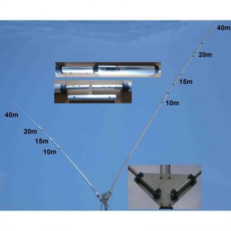 Dipole en V rigide multibandes 10-15-20-40m PST-1524TV