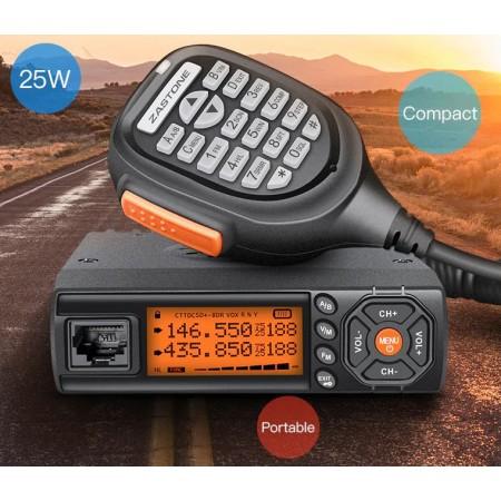 Radio mobile Zastone 218 bibande VHF/UHF 25W