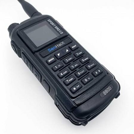 Talkie walkie portable SENHAIX 8800 UHF/VHF 5w Noir