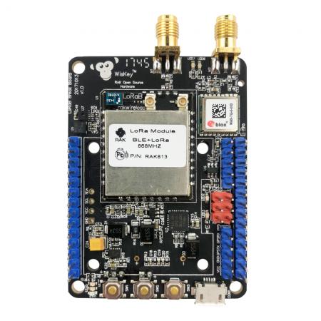 RAK815 Hybrid Location Tracker (RAK813 breakout board) with LoRa / LoRaWAN, Bluetooth 5.0 Beacon, GPS, Sensors and LCD rf-market