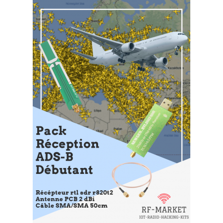 Pack débutant réception ads-b trafic aviation rf-market