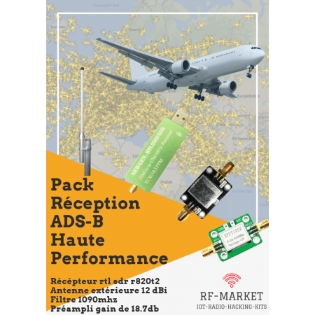 Pack expert réception ads-b trafic aviation rf-market