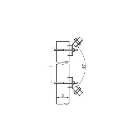 Antenne directive 4G/LTE MIMO log pérodique longue distance  9-11Dbi avec 10m câble coaxial