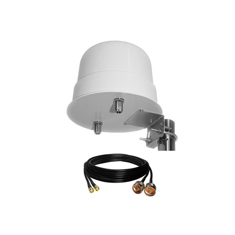 Antenne dôme 3G/4G/LTE 12 Dbi lorawan sigfox dect camping car wifi rf-market