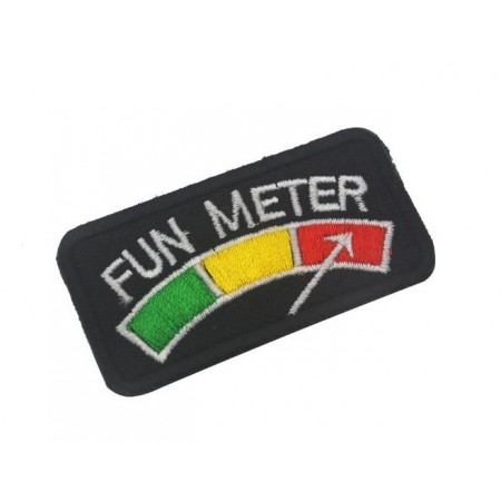 "Badge tactique ""FUN METER"" rf-market"