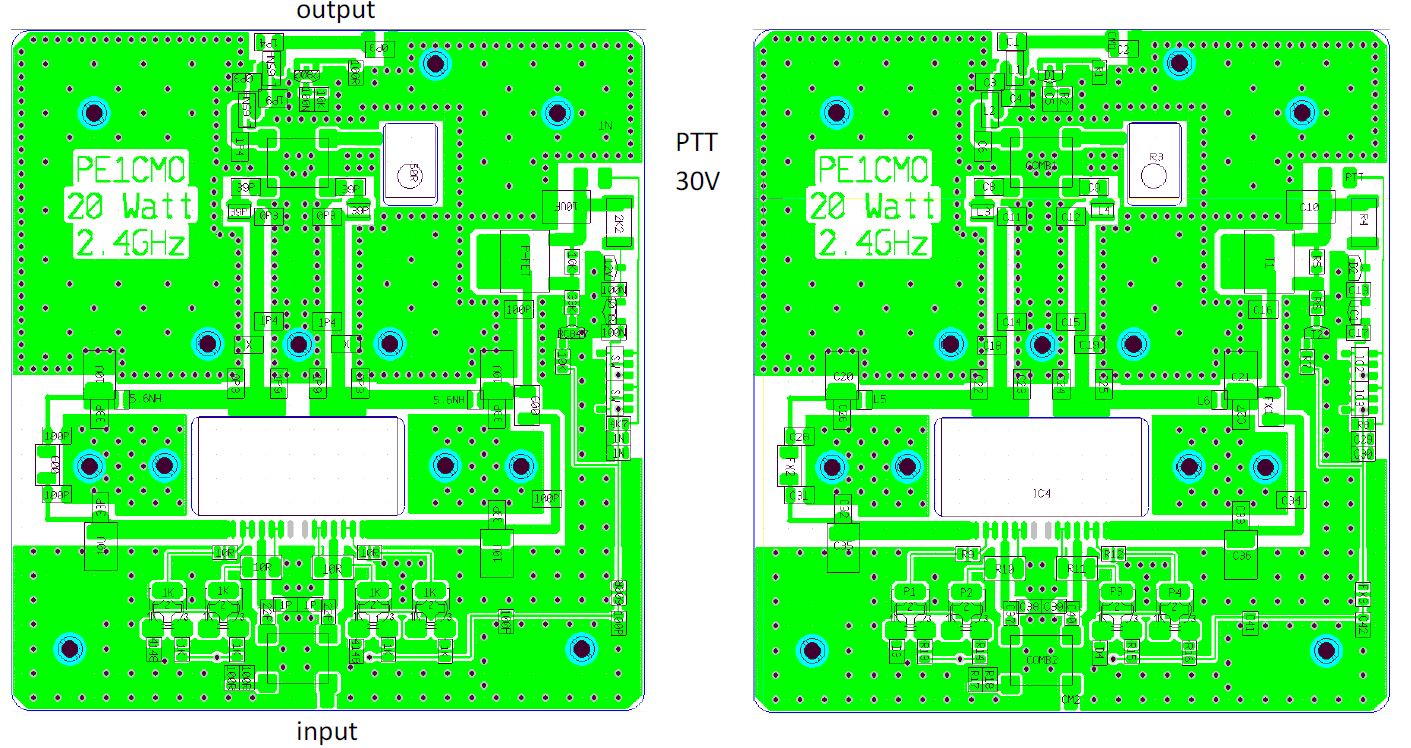 pcb amplifier 2.4 ghz