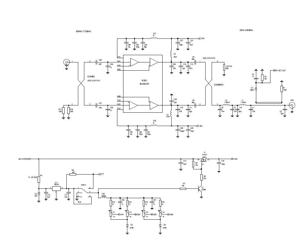 schéma amplificateur 2.4ghz